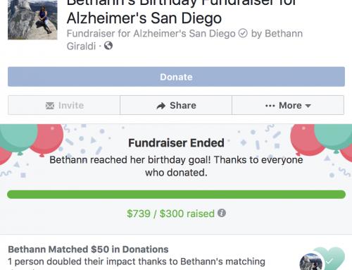 Bethann's Facebook fundraising success
