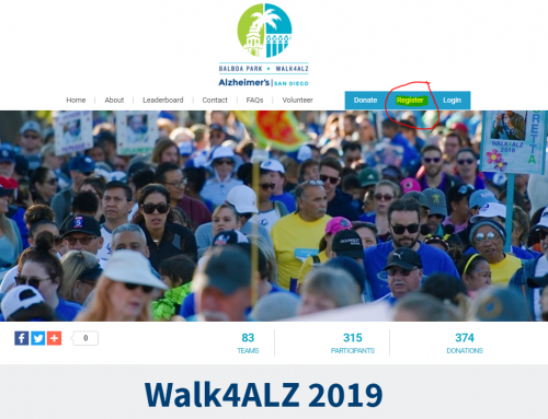 HOW TO: Restart your Walk4ALZ page